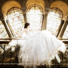 professional pre-wedding photography at Sydney澳洲悉尼婚纱照 QVB